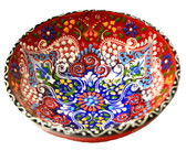 Turkish Ceramics~Large Bowl~red