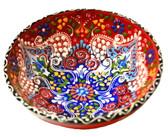 Turkish Ceramics~Large Bowl~red