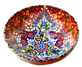 Turkish Ceramics~Medium Bowl~red