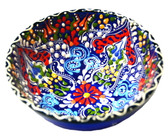 Turkish Ceramics~Medium Bowl~navy