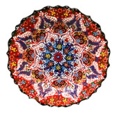 Turkish Ceramics~Hand Painted Ceramic Plate~Red~12inch