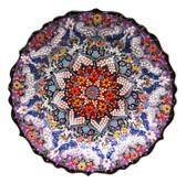 Turkish Ceramics~Hand Painted Ceramic Plate~Purple~12inch