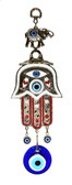 Hamsa & Evil Eye Wall Decor-red