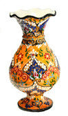 Turkish Ceramic Vase~yellow