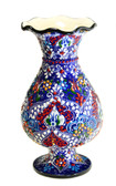 Turkish Ceramic Vase~navy