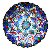 Turkish Ceramic Plate-10 inch/25cm-navy
