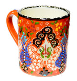 Hand Painted Ceramic Mug orange