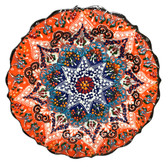 Turkish Ceramic Plate-10 inch/25cm-orange