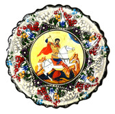 Turkish Ceramics-Ikona Series-Saint George-plate diameter: 7inch (18cm)
