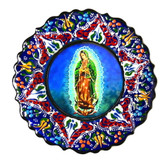 Turkish Ceramics-Ikona Series-Guadalupe-navy plate-diameter: 7inch (18cm)