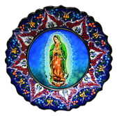 Turkish Ceramics-Ikona Series-Guadalupe-navy plate-diameter:10inch (25cm)