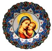Turkish Ceramics-Ikona Series-Mary & Baby Jesus-plate diameter:10inch (25cm)