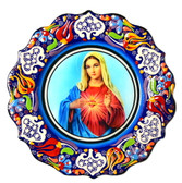Turkish Ceramics-Ikona Series-Mary-plate diameter: 7inch (18cm)