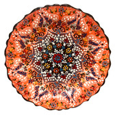 Turkish Ceramics~Hand Painted Ceramic Plate-Orange-12 inch