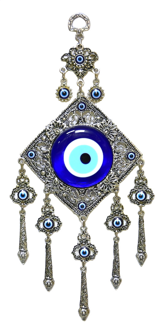 Evil Eye Wall Decor-metal/glass-11 5 inches (29cm)