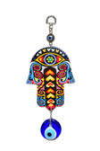 Hamsa & Evil Eye Wall Decor-metal/glass #2