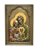 Holy Family Wall Decor-hand painted-bronze