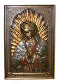 Virgin Mary Wall Decor-hand painted-bronze