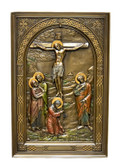 Calvary/Golgotha Wall Decor-hand painted-bronze