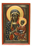 Black Madonna Wall Decor-hand painted-bronze
