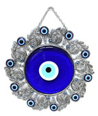 Evil Eye Wall Decor-metal/glass-Diameter:10 inches (25cm)
