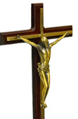 Crucifix Jesus Wall Decor-Bronze statue on wood