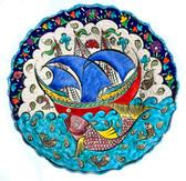 Ottoman Ship Ceramic Plate-10 inch/25cm-1