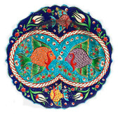Double Fish-Hand Painted Ceramic Plate~12inch (30cm)