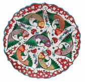 Multi Fish-Hand Painted Ceramic Plate~12inch (30cm)