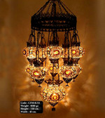 Mosaic Glass Chandelier