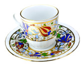 Turkish Porcelain Coffee Cup #1