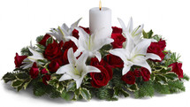 This luminous centerpiece is a glowing way to spread the joy of the season. Whether displayed on the dining table or placed elsewhere, it will light up any room with holiday cheer.