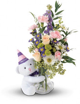 "Make any birthday a ""Beary"" special one by sending this adorable bouquet."