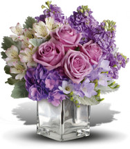 A Contemporary Cube vase is just one of the things that makes this beautiful bouquet such a sweet gift. It's full of beautiful flowers that are perfectly hand-arranged for maximum impact.