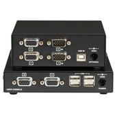 ServSwitch Brand CATx USB KVM Extender, Dual-Head VGA, Standard