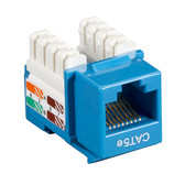 CAT5e Value Line Keystone Jack, Blue, 25-Pack