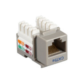 CAT5e Value Line Keystone Jack, Gray, 10-Pack