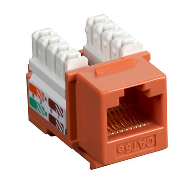 CAT5e Value Line Keystone Jack, Orange, 25-Pack