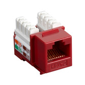 CAT5e Value Line Keystone Jack, Red, 25-Pack