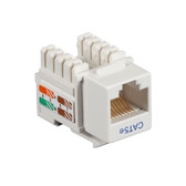 CAT5e Value Line Keystone Jack, White, 25-Pack