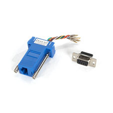 DB9 Colored Modular Adapter (Unassembled), Female to RJ-45, 8-Wire, Blue