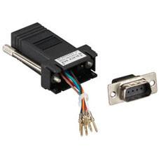 Modular Adapter Kit (Unassembled), DB9 Male to RJ-45, 8-Wire, Black