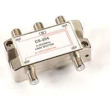 Cable/Satellite TV Signal Splitter, 2-GHz, 1 4