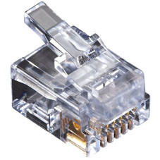 RJ-11 Modular Connector, 6-Wire, Single-Pack