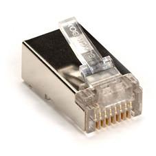 CAT5 Modular Plug, Stranded Conductor, Shielded (25/Bag)
