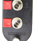 CCH-CP06-15T: Corning Connector Panel w/ 6 ST Adapters; Multimode 62.5 µm; Ceramic Insert