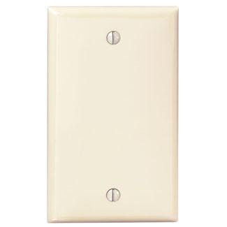 80714 I Leviton 1 Gang Standard Blank Wallplate Ivory