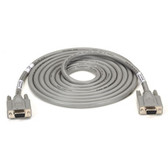 Extended-Distance/Quiet Cable with Nonremovable EMI/RFI Hoods, Stranded, DB9, Straight-Wired, 9 (4 1/2 Pairs) All Pins, 2-ft. (0.6-m), FF