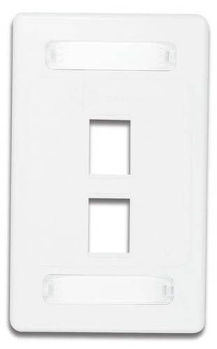 10GMX-FPS02-02B | Siemon Solutions<br>10GMX SINGLE GANG FACEPLATE 2-PORT,WHITE BULK<br>Comes in a pack of 100