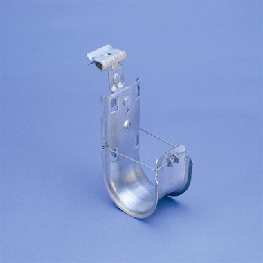 "CADDY CAT HP J-Hook with Hammer-On Flange Clip, 2"" dia, 1/8""–1/4"" Flange"